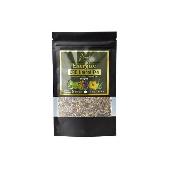 Honey Heaven 300mg CBD Loose Leaf Herbal Tea 50g - Energise - Shark Vapes Limited