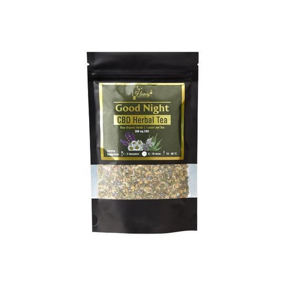 Honey Heaven 300mg CBD Loose Leaf Herbal Tea 50g - Good Night - Shark Vapes Limited