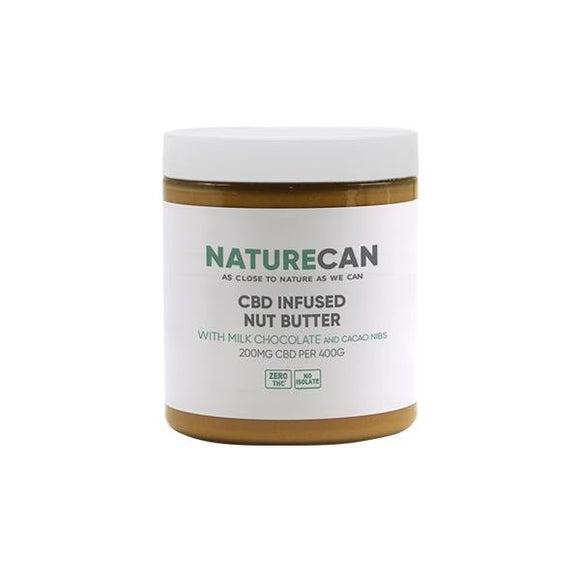 Naturecan 200mg CBD 400g Nut Butter Milk Chocolate with Cacao Nibs - Shark Vapes Limited