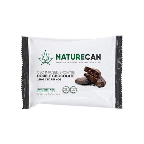 Naturecan 25mg CBD Double Chocolate Brownie 60g - Shark Vapes Limited