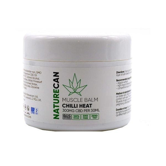 Naturecan 300mg CBD Chilli Heat Muscle Balm - Shark Vapes Limited