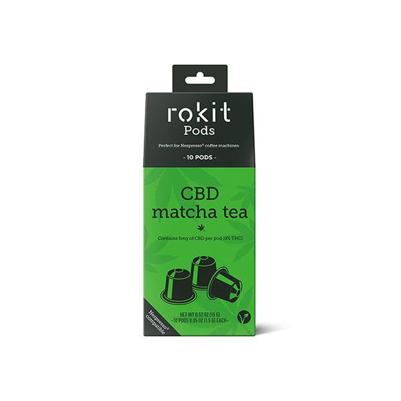 Rokit Pods CBD Matcha Green Tea 5mg Nespresso Pods - Shark Vapes Limited