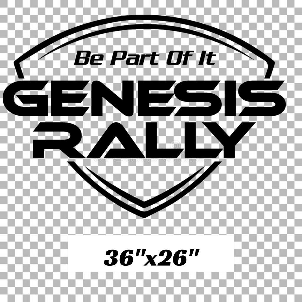 LARGE Genesis Rally Shield Decal