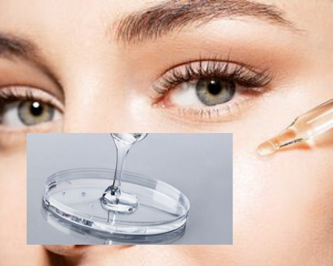 Women applying hyaluronic Acid