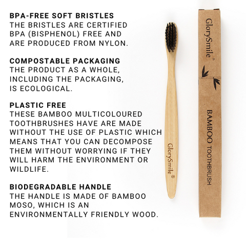 Infographic on the characteristics of reusable toothbrushes