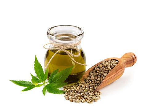 hemp oil with some hemp seeds