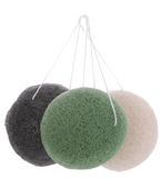 3 konjac sponges on a strings
