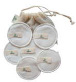 6 Reusable Makeup Remover Pads With Laundry Bag