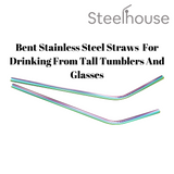 2 bent steel straws
