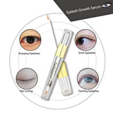 eyelash serum with images of eyelashes