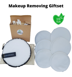 Reusable makeup removing pads gift set