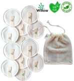 12 Willow Reusable Makeup Removing Pads With Laundry Bag