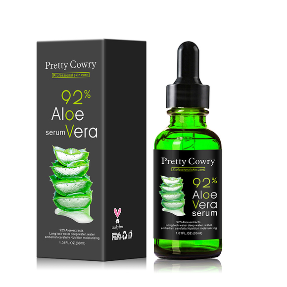Dropper bottle of aloe vera  with box