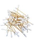 a pile of bamboo cotton buds