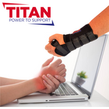 wrist support brace and wrist pain typing