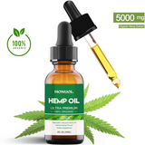 hemp oil bottle with the applicator
