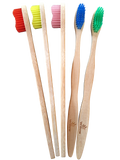 bamboo toothbrushes with profiled handles and medium bristles