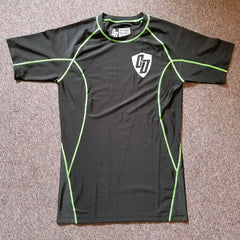 Black/Green Stitch Compression Shirt