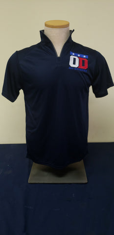 Navy Quarter Zip short Sleeve pullover