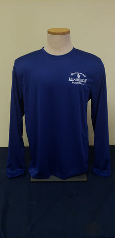 Royal Long Sleeve All-American Football Tee