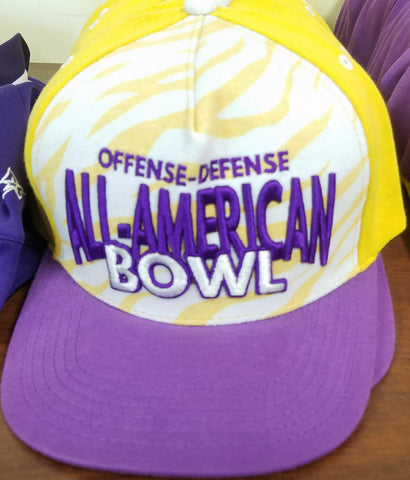 NOLA purple and yellow sublimated/embroidered hat