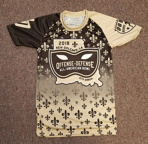 Black and Gold Sublimated Tee