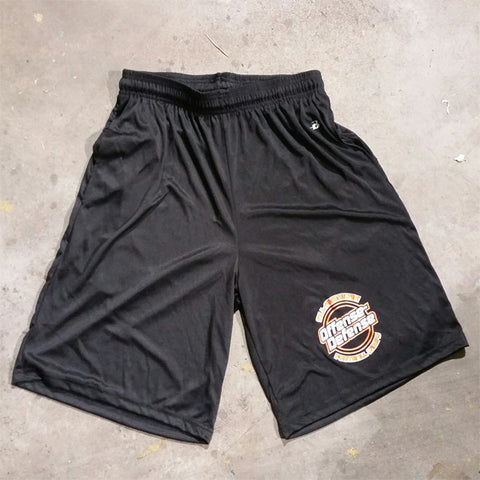 Black and Orange Shorts