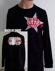 Black Long Sleeve Bowl Star Shirt