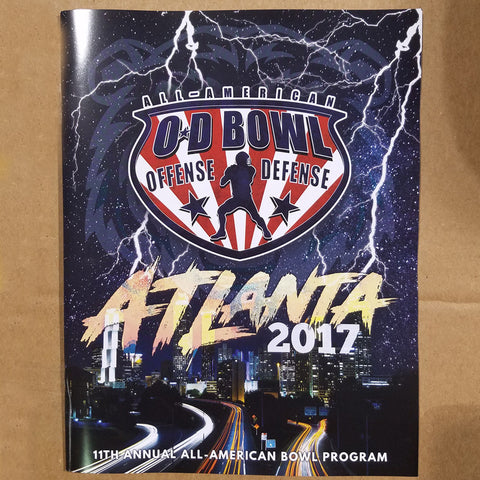2017 All-American Bowl Official Program/Yearbook 44 pages