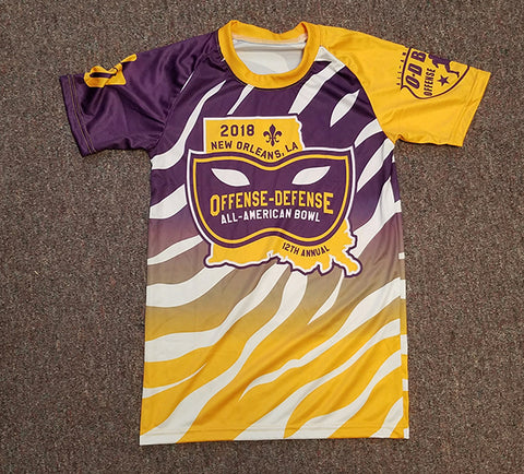Purple and Gold Sublimated Tee