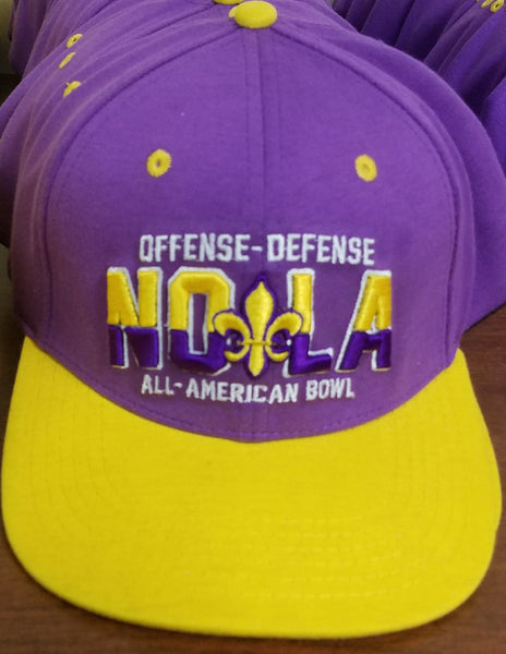 NOLA purple and yellow Bowl Hat
