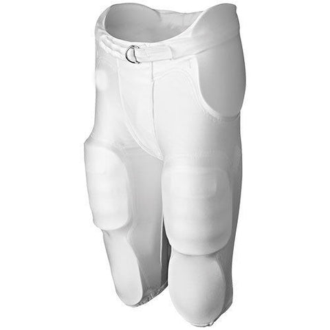 Youth Integrated 7 Piece Pad Practice Football Pants - White