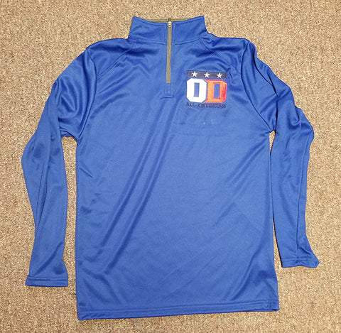 Royal blue 1/4 zip long sleeve