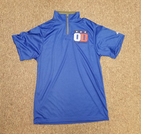 Royal Blue 1/4 zip short sleeve