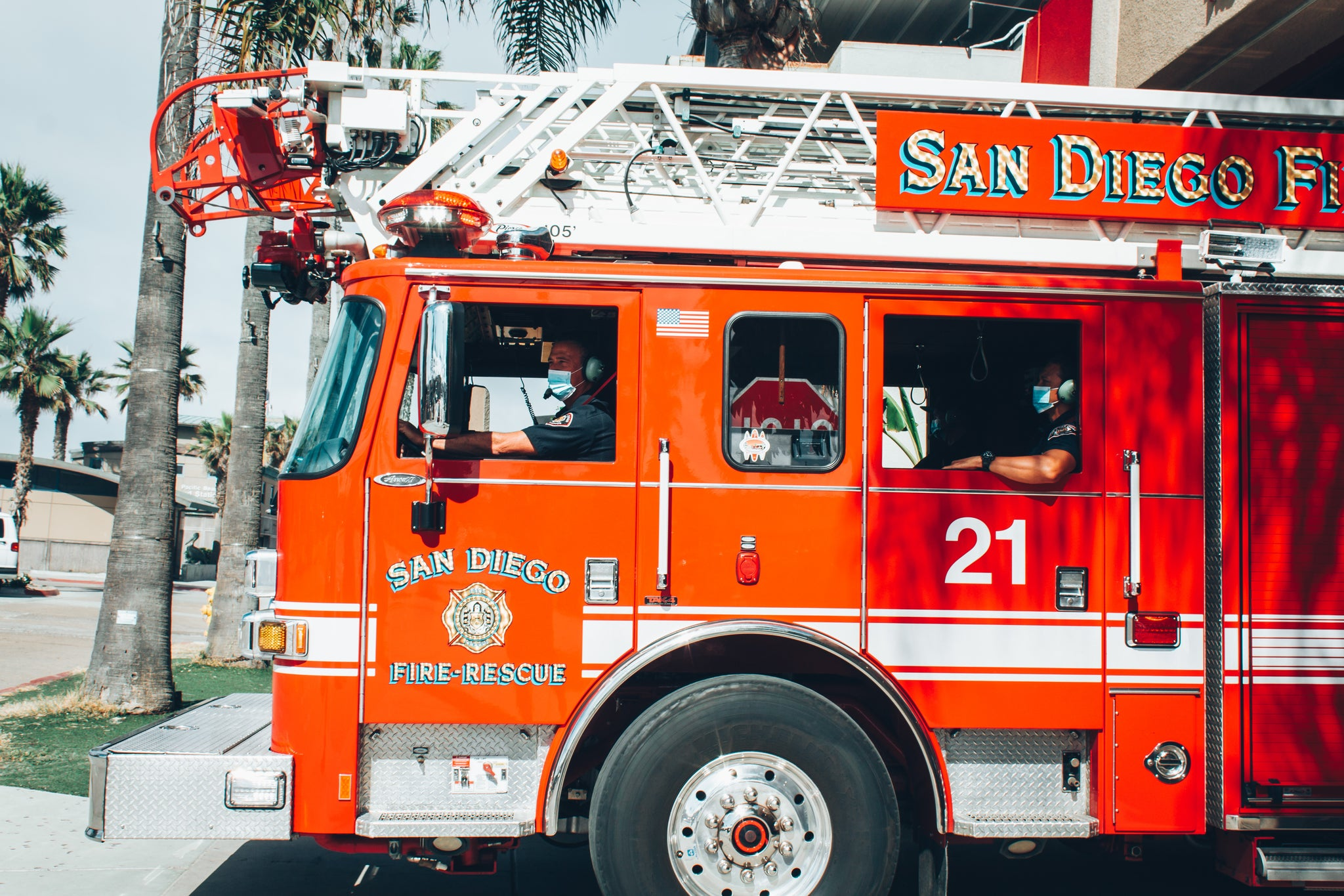 Monster Aid Thanks First Responders with Donation to San Diego Fire-Rescue Department