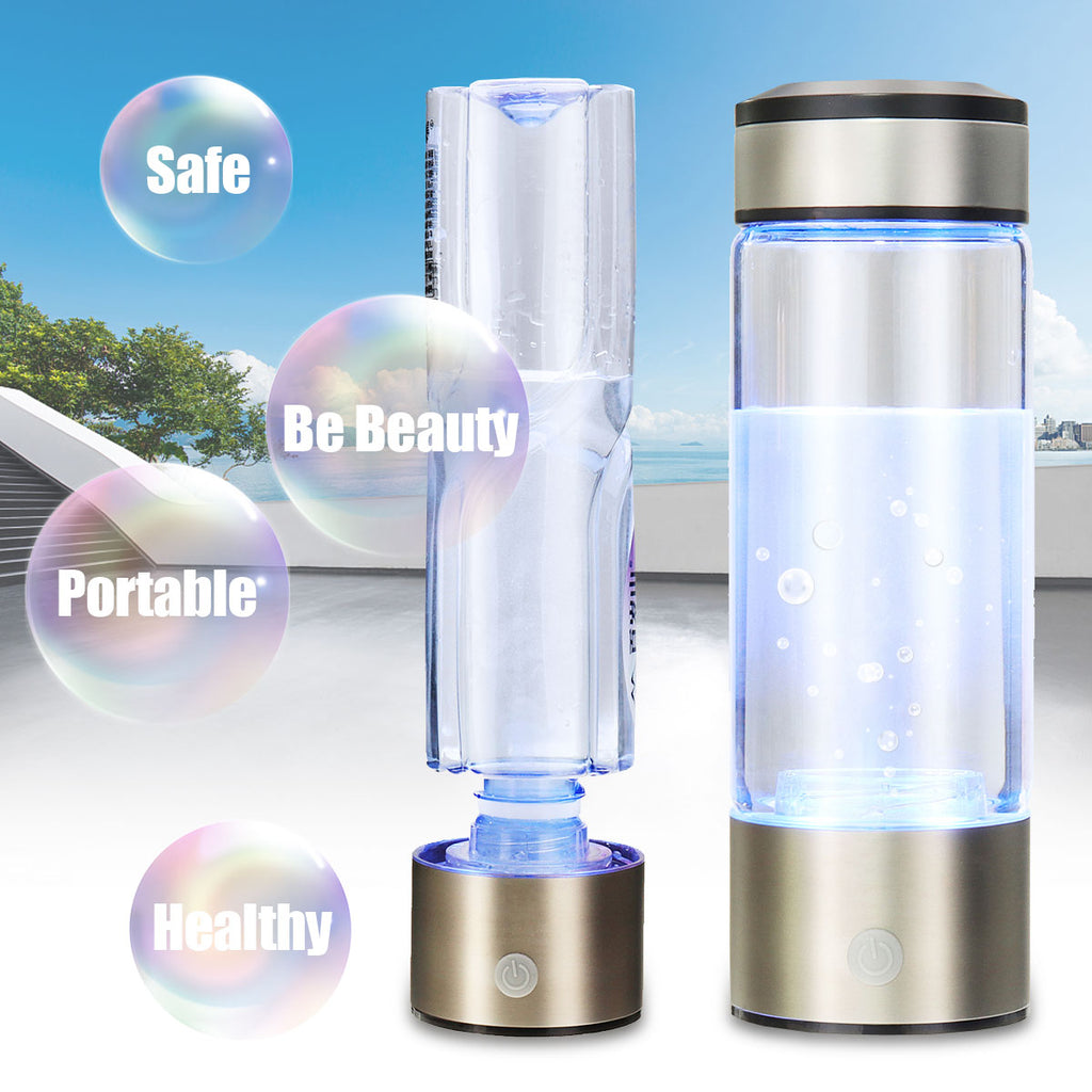 Portable Hydrogen-Rich Detoxifier Water Bottle