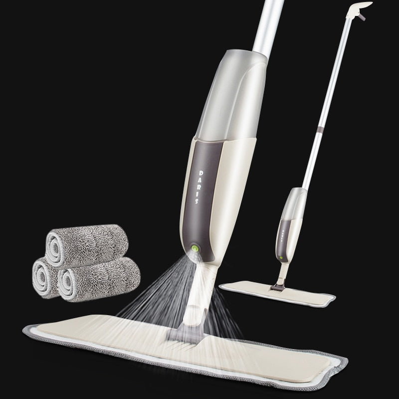 Spray Floor Mop with Replaceable Pads