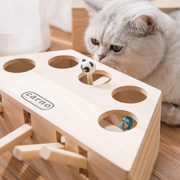 Wood Cat Gophers Toys