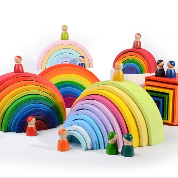 Stacking Wooden Rainbow