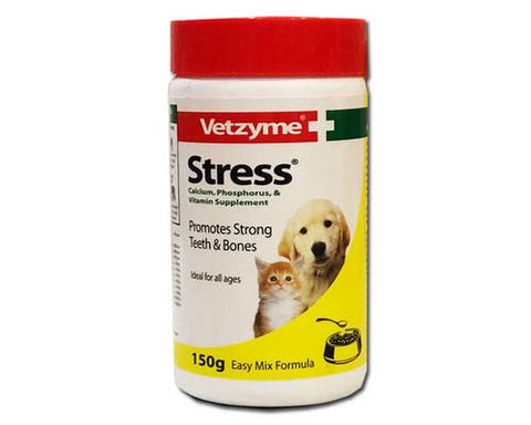Vetzyme Stress Powder - for Dogs and Cats  150G
