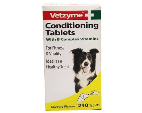 Vetzyme Conditioning Tablets for Dogs – 240 Tablets