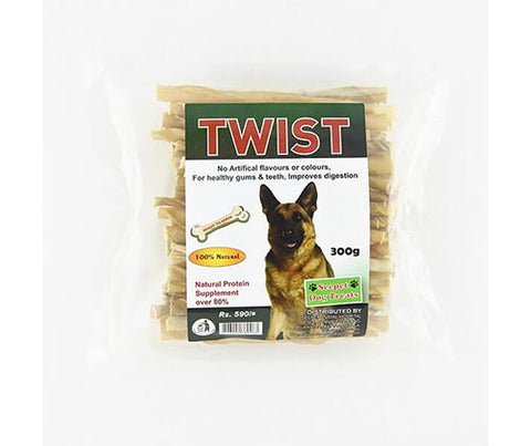 Seepet Dog Bites - Whole Twists 300G