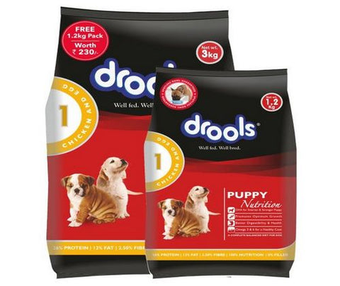 Drools Chicken and Egg Puppy Dog Food 400G
