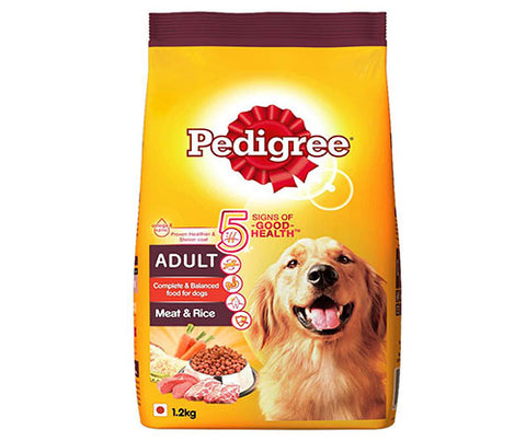 Pedigree Meat & Rice 1.2Kg  - Adult Dog