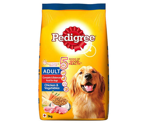 Pedigree Chicken & Vegetables 3Kg - Adult Dog