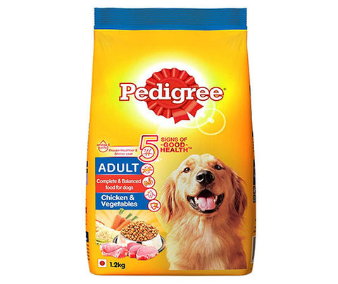 Pedigree Chicken & Vegetables, 1.2Kg - Adult Dog