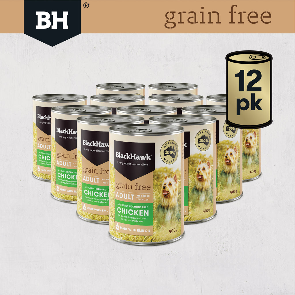 Black Hawk Grain Free Chicken Wet Food For Dogs - Bundle Pack (12 x 400g)