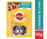 Pedigree Chicken & Liver CIS Pouch 80g - Adult Dog
