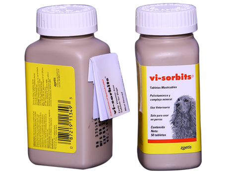 Vi-Sorbits Meat Flavoured Iron Tablets For Dogs - 50 Tablets