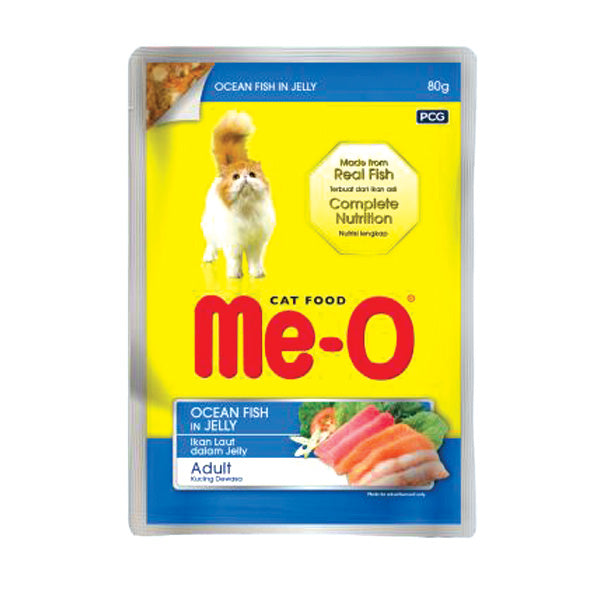 Me-O Ocen Fish In Jelly Pouch 80g - Cats